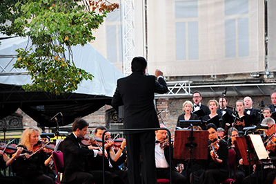 Mozarts Requiem på Grzybowska, 1 september 2014. Foto: Stanislaw Godula.