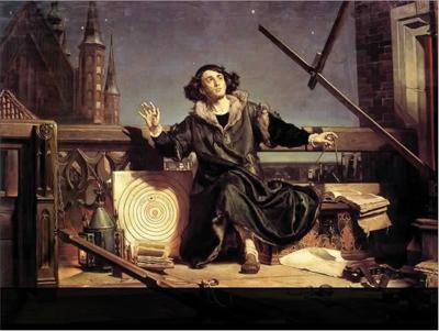 Jan Matejko (1838-1893): Astronom Kopernik, czyli rozmowa z Bogiem (Muz.UJ, Kraków). (Bild från Wikimedia.)