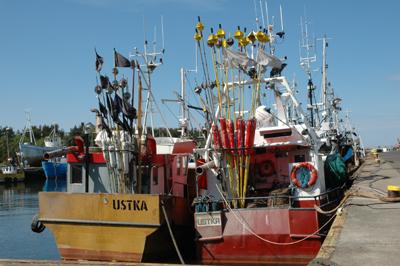 Liksom under medeltiden är fisket en viktig del av försörjningen i Ustka.