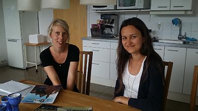 Josephine Hermansson och Skåneföreningens Karolina Larsson Fogel. Foto: Ket Larsson.