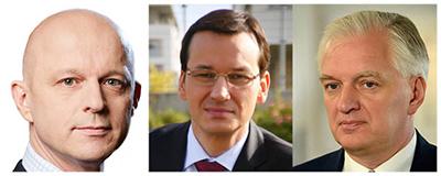 Finansminister Paweł Szałamacha, utvecklingsminister Mateusz Morawiecki och utbildningsminister Jarosław Gowin anser att Polen inte har råd med den sänkta pensionsåldern.