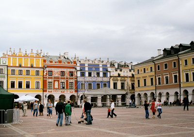 Medeltidsstaden Zamosc är byggd med torget som medelpunkt.