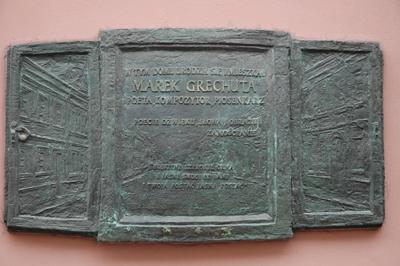 Här bodde också Den berömde sångaren Marek Grechuta född 1945 i Zamosc, polsk sångare, låtskrivare, komponist och lytiker, död 2006, begravd i Kraków, men en minnesplatts på födelseorten.