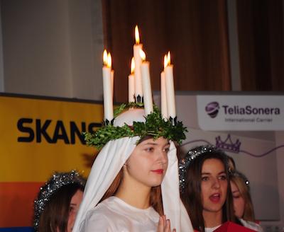 XX var Lussebrud när svenska ambassaden i Warszawa höll Luciafest. Foto: Stanislaw Godula.