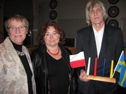 Föredrag hölls av docent Dorota Tubielewicz Mattsson, här tillsammans med Karin Maltestam och Ville Magnusson.