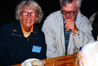 Dagmar Falk tillbaka i Suwalki 2005. Här tillsammans med Zbyszek Baginski.