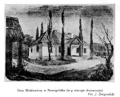 Adam Mickiewicz födelsegård. Foto: J. Żmigrodski.