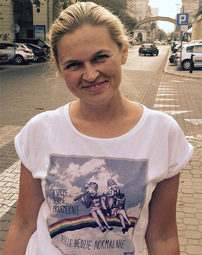 Förenade Vänsterns Barbara Nowacka kämpar för kvinnors och minoriteters rättigheter. Bild Facebook.