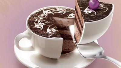 En kopp kaffe och en tårtbit kanske? En av Wedels skapelser till en chokladmässa för några år sedan.
