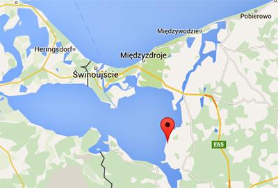 Czarnocins mosse. Karta: Googlemaps.