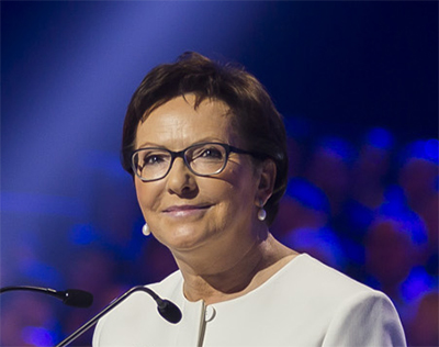 Förra premiärministern Ewa Kopacz. Foto: wikipedia.