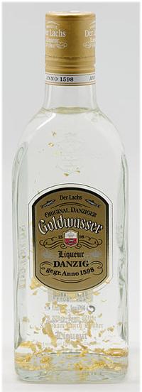 En äkta Goldwasser med bladguld i botten.