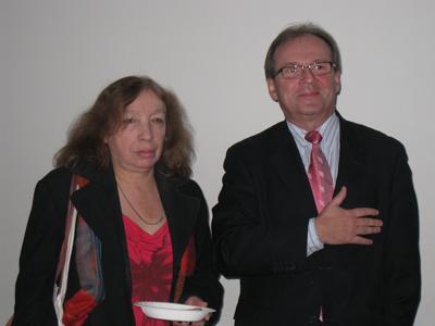 Ambassadör Adam Halacinski och Halina Gottfarb från Polska institutet deltog i Stockholmsföreningens traditionella presentation av polska jultraditioner.