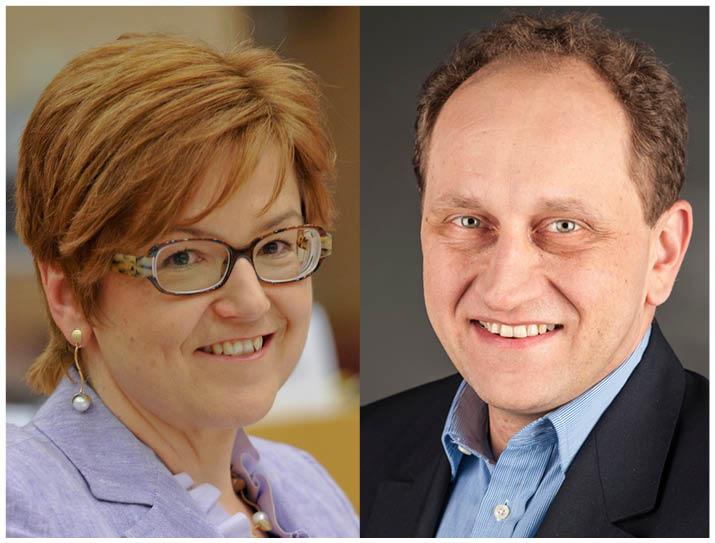 Parlamentarikerna Ingeborg Gräßle och Alexander Graf Lamsdorff. Foto: EU-parlamentet och Foto-AG Melle.