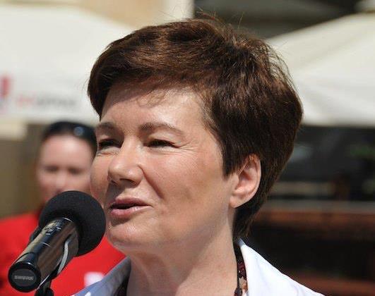 Warszawas borgmästare Hanna Gronkiewicz-Waltz. Foto: Facebook.