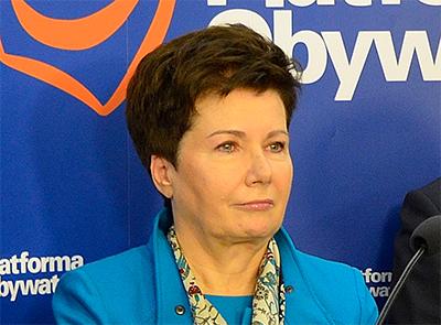 Warszawas borgmästare Hanna Gronkiewicz-Waltz. Foto: Adrian Grycuk, wikipedia.
