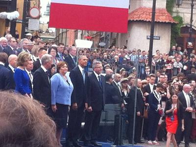 Miljontals polacker hedrade sin landsman