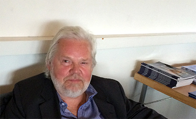 Kjell Albin Abrahamson på besök i Lund 2015. Foto: Gunilla LIndberg