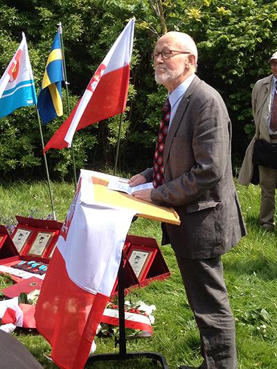 Jan Axel Stoltz påminde om 1980-talet då han som ordförande i Stödkommittén för Solidaritet såg till att hjälp till oppositionen smugglades in bakom järnridån. Foto: Karolina Larsson Fogel.
