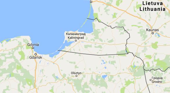 Den ryska enklaven Kaliningrad ligger inkilad mellan nordöstra Polen och sydvästra Litauen.