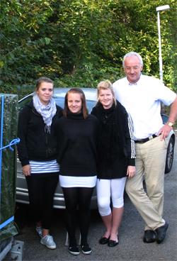 Evelina Lindroth, Josefine Lunn, Anna Lindahl och Kent Larsson är reda för avfärd.