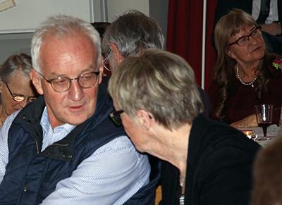 Skåneföreningens ordförande Kent Larsson tillsammans med Blekingeföreningens ordförande Karin Maltestam.