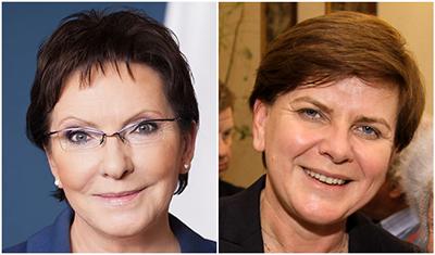Premiärminister Ewa Kopacz och utmanaren Beata Szydło möttes i debatt utan visioner. Fotomontage.