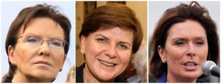 Ewa Kopacz, Beata Szydło och Małgorzata Kidawa-Błońska – Polens tre mäktigaste kvinnliga politiker.