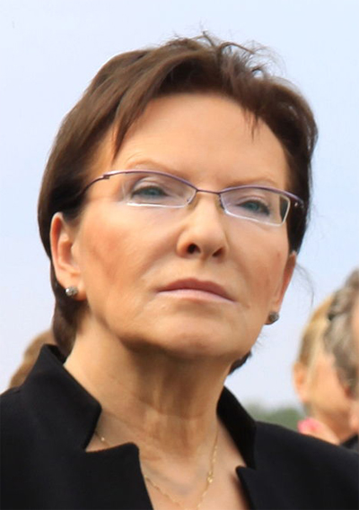 Ewa Kopacz håller i de polska tömmarna. Foto: wikipedia.