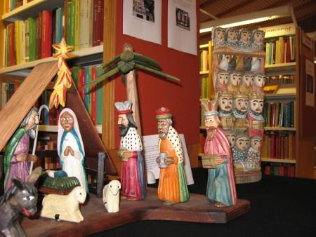 Polsk julkrubba – här utställd på biblioteket i Sölvesborg för några år sedan. Foto: Jan Maltestam