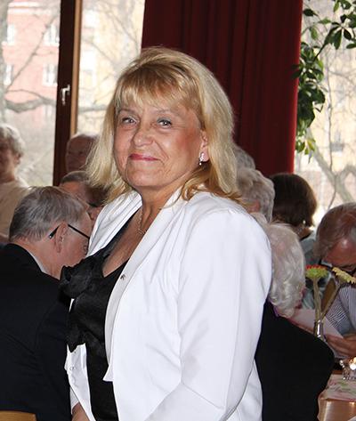 Krystyna Larsson, vice ordförande och sekreterare i Stockholmsföreningen.