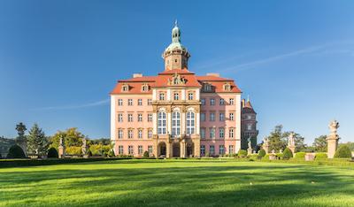 Zamek Ksiąz i Wałbrzych sydöst om Wrocław eldhärjades på onsdagen. Foto: wikipedia.
