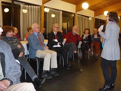 Barbara Törnquist-Plewa föreläste om folkförflyttningarna efter andra världskriget.