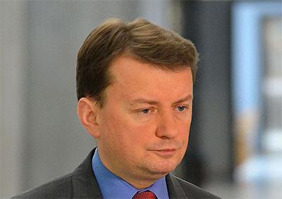 Inrikesminister Mariusz Błaszczak. Foto: Adrian Grycuk, wikipedia.
