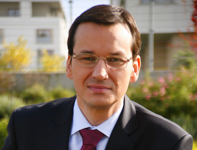 Utvecklingsminister Mateusz Morawiecki oroar sig inte för sänkt kreditbetyg. Foto: wikipedia.