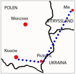 Valentina reste från Małopolska i det naziockuperade Polen till Przemyśl.  Därefter gick familjen till fits i tre dagar.