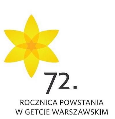 Påskliljesymbolen – till 72-årsminnet av gettoupprorets utbrott. Foto: Polin, Museet för de polska judarnas historia.