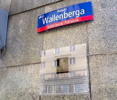 Raoul Wallenbergs gata i Warszawa. Foto G. Lindberg