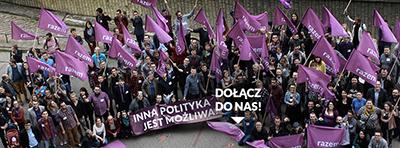Prekarianerna bildar parti för att påverka samhället i en bättre riktning. Bild från RAzems Facebooksida.
