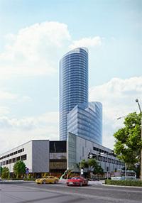 Polens högsta byggnad Sky Tower. Foto: Sky Tower.