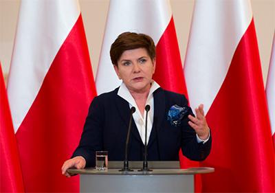 Premiärminister Beata Szydło. Foto: P. Tracz, wikipedia.