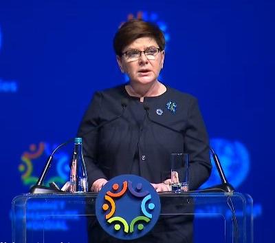 Premiärminister Beata Szydło på FNs humanitära toppmöte i Istanbul. Foto: twitter.