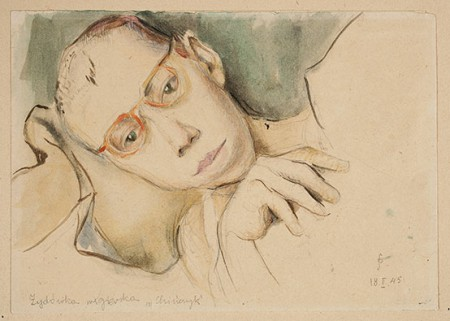 "Jadwiga Simon-Pietkiewicz, ""Ungersk judinna"", 1945"