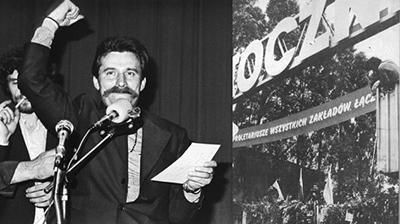 Lech Wałęsa under strejken i Gdańsk i augusti 1980. Foto: wikimedia commons