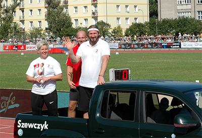 Anita Włodarczyk, slägga, Piotr Małachowski, diskus och Tomasz Majewski, kula. Foto: Stanisław Godula